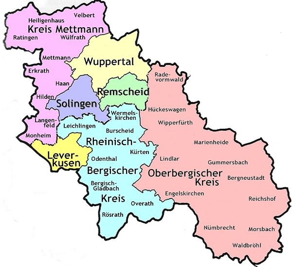bergisches land karte Wenke: Mein Solingen / Bergisches Land