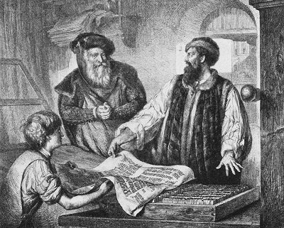 gutenberg to internet Johannes gutenberg invented the printing press in germany in the mid-1400s learn more about this revolutionary invention and the man behind it.